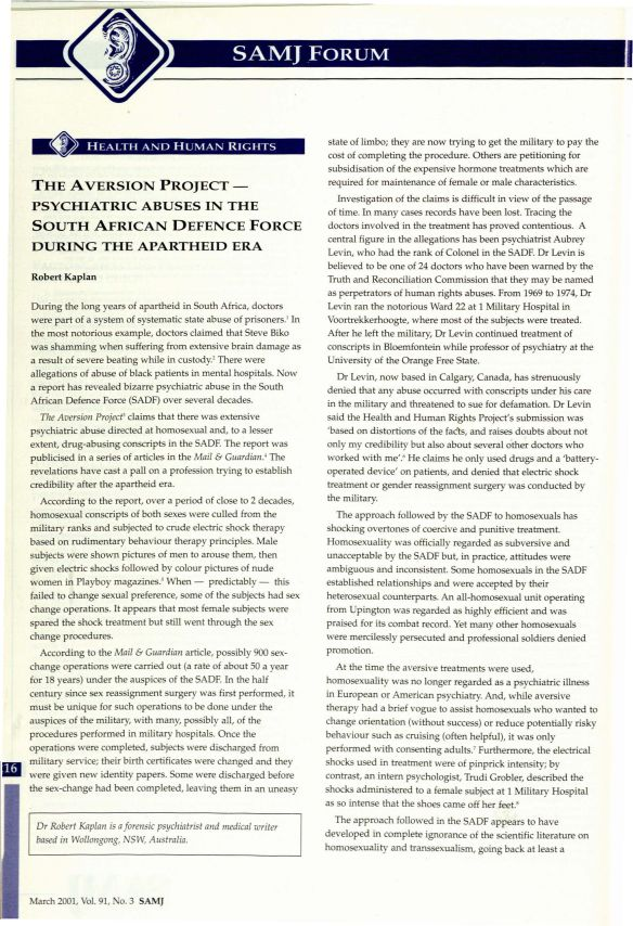THE AVERSION PROJECT - PSYCHIATRIC ABUSES IN SADF DURING THE APARTHEID 1_Page_1